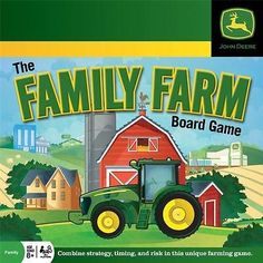 Combine Strategy, timing, and risk in this unique farming game. Create and manage your own successful farm with the John Deere Family Farm Board Game. You'll decide which crops to plant, which equipme John Deere Games, John Deere Store, Farm Games, Tractor Birthday, Family Board Games, Family Night, Monster Trucks, Toys, Fun