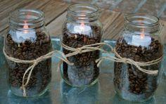 Fall+Decorating–Coffee+Beans+&+Mason+Jars