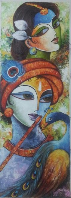 HappyShappy - India's Own Social Commerce Platform Oil Pastel Paintings, Indian Art Paintings, Modern Art Paintings, Ganesha Art, Krishna Art, Krishna Painting, Indian Folk Art, Madhubani Painting, Buddha Art