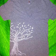 URBAN Twisted TREE Tshirt XS/S/M American by UrbanLeafClothing, $21.00