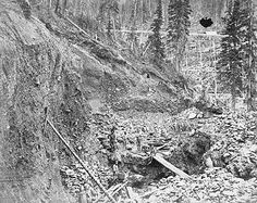 Prospectors placer mining for gold in the Cariboo