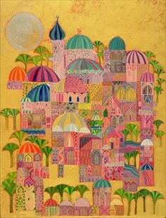"""Laila Shawa """"The Golden City"""" (we have this print)"""