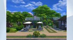 "Check out this lot in The Sims 4 Gallery! - ""U-Grow"" Community Gardens! Come grow your own food, stroll through the #gardens, or grab a #coffee at the #cafe.  With a #pond around back, you can join the Garden Gnomes and they will help you tend it!  #rubysmile386 #NOcc #MOO #cityliving #gettogether #gettowork #outdoorretreat #dineout #vampiresgamepack #vampires #newcrest #perfectpatiostuff #backyardstuff #windenburg #buildnewcrest #garden #fishing #park #playtested"