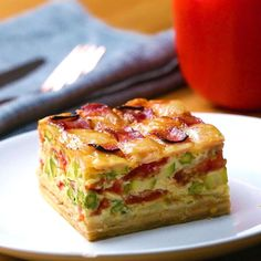 Quiche With Ham And Cheese Lattice Recipe by Tasty