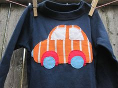 Tiny  Mechanic Big Stripy Car Baby Onesie by piratesandcupcakes, $16.00