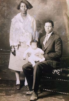 """historicallyblack: """" Tartt family photo, 1928, West Virginia. Photo courtesy of the Tartt Family. """"This picture taken in the Spring of 1928 is of my grandmother, Lucy Tartt, grandfather, Simmie Tartt,..."""