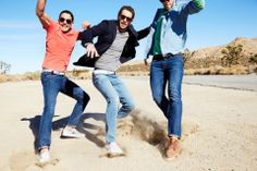Joshua Lovrin, Justice Joslin and an unknown model by Ben Watts for Bonobos