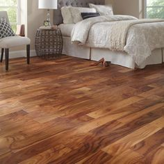 Home Legend Matte Natural Acacia in. Thick x 5 in. Wide x Varying Length Click Lock Hardwood Flooring sq. / case) at The Home Depot - Mobile Acacia Hardwood Flooring, Hardwood Floor Colors, Light Hardwood Floors, Best Flooring, Plank Flooring, Flooring Options, Flooring Ideas, Flooring Types, Plywood Floors
