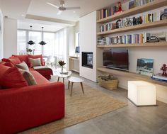 Molins Interiors // arquitectura interior - interiorismo - decoración - penthouse - salón - comedor - despacho - biblioteca - sofá - alfombra - chimenea