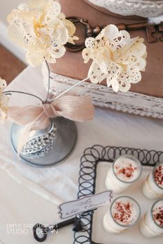 {Tutorial} Tea Stained Paper Doilies ~ Then shows how to  make them into flowers