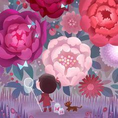 Joey Chou: Peonies and Butterflies