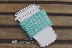 Just be happy!: Garter Stitch Coffee Sleeve - Free Crochet Pattern...