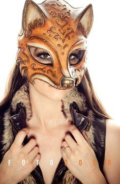 Fox by Goblin Art Studio Masquerade Costumes, Masquerade Party, Goblin Art, Steampunk, Fox Costume, Fox Mask, Cool Masks, Venetian Masks, Mystique
