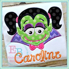 Draculette Applique  This design is to be by EmbroideryBoutique2