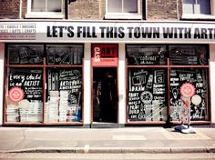 Cass Art London ~ if there is mayhem in the streets, please let me find this shop to take shelter inside...