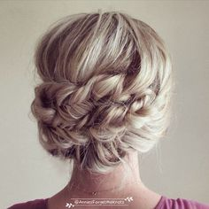 headband braids wedding updo
