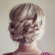 headband braids wedding updo / http://www.himisspuff.com/beautiful-wedding-updo-hairstyles/18/