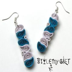 Paisley Drops  Paper Quilled Earrings by StyleMyGift on Etsy, $9.00