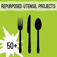 50+ Ways to Repurpose Silverware Utensils @savedbyloves #Upcycle