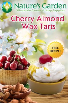 Free Cherry Almond Wax Tarts Recipe by Natures Garden Fun Diy Crafts, Diy Craft Projects, Tarts Recipe, Candle Supplies, Weekend Crafts, Wax Tarts, Homemade Candles, How To Make Homemade, Natural Living