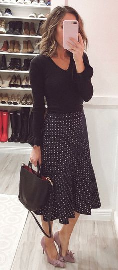 Modest fashion 500673683576092346 - Classy Black Outfits, Source by emmalinna Boho Outfits, Spring Outfits Classy, Modest Summer Outfits, Modest Dresses, Dress Outfits, Fashion Outfits, Black Outfits, Modest Clothing, Church Outfit Summer
