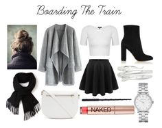 """""""Boarding the Train"""" by theocqueen ❤ liked on Polyvore featuring Forever 21, Chicwish, Gianvito Rossi, Topshop, Lacoste, Marc Jacobs, Kevin Jewelers and Urban Decay"""