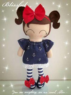 Moños Sewing Art, Sewing Dolls, Sewing Crafts, Felt Dolls, Doll Toys, Rag Dolls, Boy Doll, Girl Dolls, Dolls And Daydreams