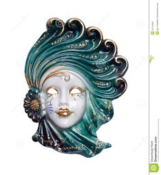 Venetian Mask Porcelain Stock Photos - Image: 24744503