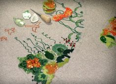 The (Teeny-Tiny) Pieces of My Heart: Beginning Tambour Embroidery with Lalon Alexander & Theresa Alexander. Tambour embroidery in progress. Photo courtesy The Alexanders