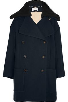 CHLOÉ Double-breasted wool-blend coat  $2,895.00 https://www.net-a-porter.com/product/713471