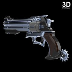 3D Printable Model: McCree Peacekeeper Revolver Blaster Rifle Gun from Overwatch | File Formats: STL OBJ – Do3D.com