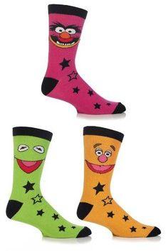 873ea49bbd3 SockShop Men s 3 Pair Muppets Socks 7-12 Multicolored