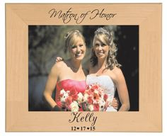 Matron of Honor Picture Frame Personalized by BPLaserEngraving