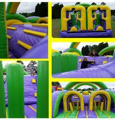 35' Radical Obstacle Course w/ Slide - Obstacle Course Rentals - Astro Jump® of NW Atlanta