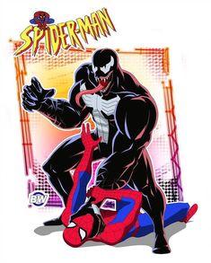 Spider-Man the animated series 1994 by BroWIN-DI on DeviantArt Marvel Venom, Marvel Art, Marvel Heroes, Marvel Animation, Animation Series, Spiderman Art, Amazing Spiderman, Venom Spiderman, Spider Man Animated Series