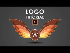How I create a Wings Logo - Illustrator Tutorial - YouTube