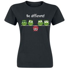Be Different!  T-Shirt  »Be Different!« | Buy now at EMP | More Fun merch  T-shirts  available online ✓ Unbeatable prices!