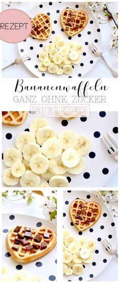 Hier findest du ein leckeres Rezept für selbstgemachte Bananenwaffeln. Die veganen Bananenwaffeln werden mit einer reifen Banane und ohne Zucker gemacht.