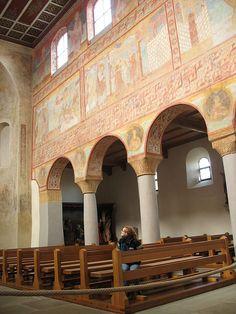 Reichenau Georg Nordseite - Église Saint-Georges d'Oberzell , à Reichenau (Allemagne) 9°s, architecture ottonienne