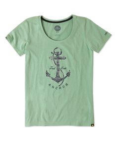 Minty Green 'Find Your Anchor' Geometric Creamy Scoop Neck Tee Life is Good