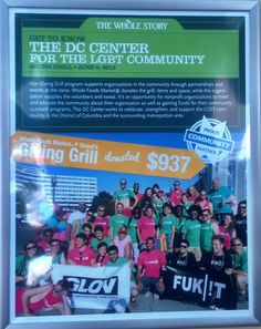 Thank you Whole Foods for supporting the DC Center.