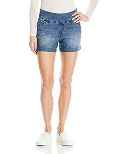 Jag Jeans Womens Nora Skinny Pull On Jean White 10 *** Read more ...