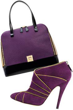 Shades of Purple ::  Bag: Furla; boots: Casadei #purple