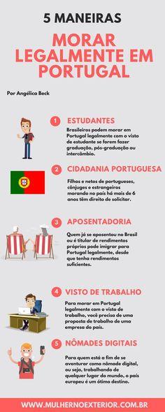 5 maneiras de morar legalmente em Portugal. #moraremportugal #viveremportugal #portugal #brasileirosemportugal #cidadaniaportuguesa #enem #estudaremportugal #nomadesdigital #europa #brasileirosnaeuropa #vistoD7 #vistodetrabalhoportugal #visto #passaporte #trabalharemportugal #aposentadoemportugal #aposentadoria