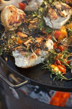 Griddled Chicken with Charred Herb and Tomato Salad, from the new 'Mallmann on Fire'