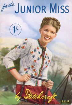 A link to a full copy of Vintage Stitchcraft Junior Miss Special Edition From 1940's.