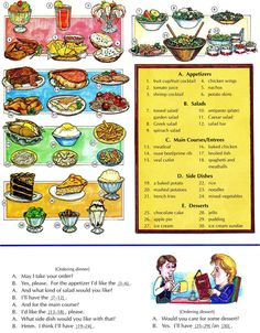 Learning the vocabulary for at a restaurant and how to order food Please like our Facebook page  www.facebook.com/LearningbasicEnglish to get updates everyday. Thanks in advance