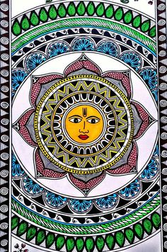 Madhubani Art, Madhubani Painting, Mural Wall Art, Mural Painting, Zentangle, Indian Contemporary Art, Ganesha Painting, Indian Folk Art, Indian Art Paintings