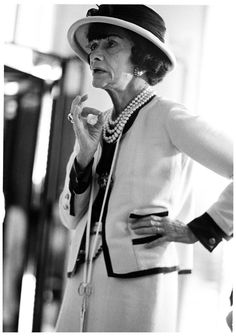 """The Quotable Coco Chanel """"I don't care what you think about me. I don't think about you at all."""" Chanel photographed in 1931."""
