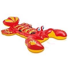 """Intex Lobster Ride-On, 84"""" X 54"""", For Ages 3+, 2015 Amazon Top Rated Swimming Floatation Devices #Toy"""